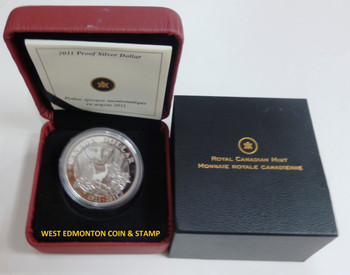 2011 PROOF SILVER DOLLAR - 100TH ANNIVERSARY OF PARKS CANADA (1911-2011).