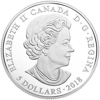2018 $5 FINE SILVER COIN BIRTHSTONES: JANUARY
