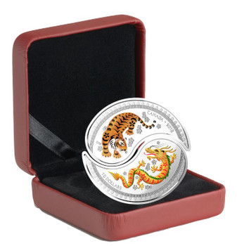 2018 $10 FINE SILVER YIN AND YANG COINS - TIGER AND DRAGON