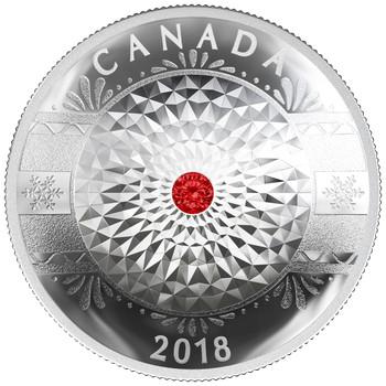 2018 $25 FINE SILVER COIN CLASSIC HOLIDAY ORNAMENT