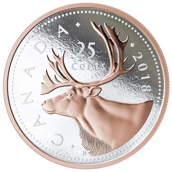 2018 5-OUNCE FINE SILVER COIN BIG COIN SERIES: 25-CENT COIN