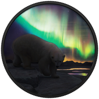 2014 O Canada Series $10 Fine Silver The Northern Lights No Tax Aurora Borealis