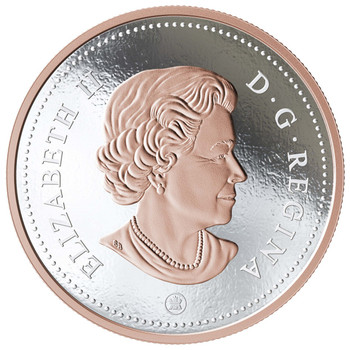 2018 5-OUNCE FINE SILVER COIN BIG COIN SERIES: 10-CENT COIN