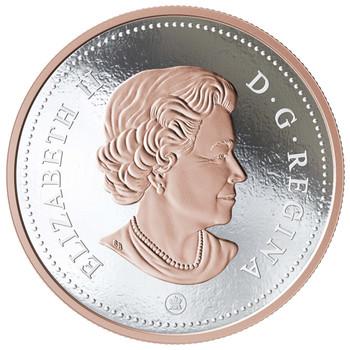 2018 5-OUNCE FINE SILVER COIN BIG COIN SERIES: 10-CENT COIN