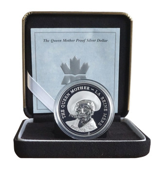 2002  SILVER PROOF DOLLAR - 1900-2002 THE QUEEN MOTHER