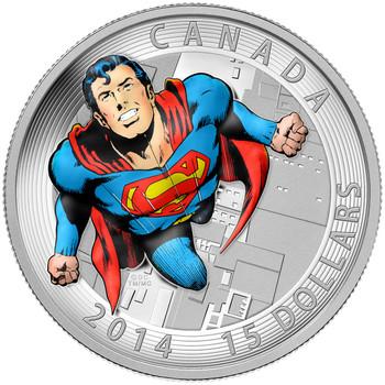 2014 $15 FINE SILVER COIN ACTION COMICS #419 (1972)