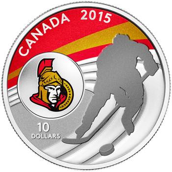 2015 $10 FINE SILVER COIN OTTAWA SENATORS™