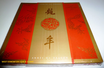 2000 YEAR OF THE DRAGON STAMP & COIN SET