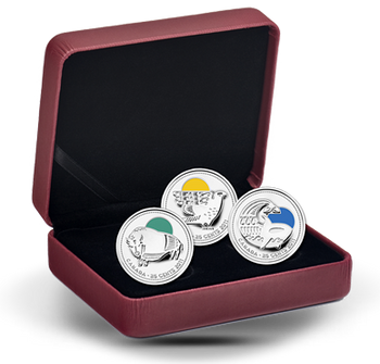 2011 STERLING SILVER COIN SET - CANADIAN CONSERVATION SUCCESSES