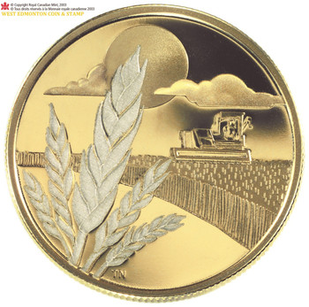 2003 $100 14-KARAT GOLD COIN - DISCOVERY OF MARQUIS WHEAT