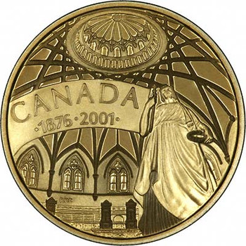 2001 14KT $100 125 ANNIVERSARY OF PARLIAMENT GOLD COIN