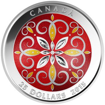SALE 2015 $25 FINE SILVER COIN - CHRISTMAS ORNAMENT