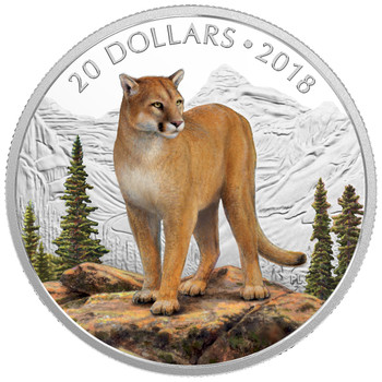 2018 $20 FINE SILVER COIN MAJESTIC WILDLIFE: COURAGEOUS COUGAR