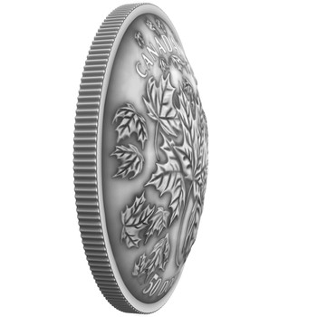 2018 $50 FINE SILVER COIN MAPLE LEAVES IN MOTION