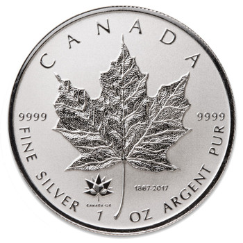 1oz. 2017 CANADIAN 150 PRIVY MARK SILVER MAPLE LEAF COIN