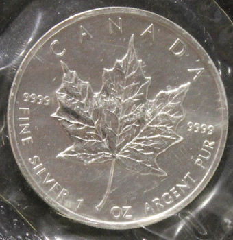 1oz. 2003 CANADIAN SILVER MAPLE LEAF COIN