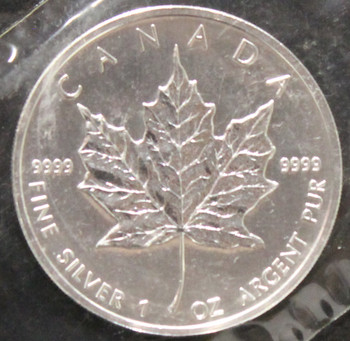 1oz. 2007 CANADIAN SILVER MAPLE LEAF COIN