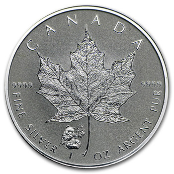 1oz. 2016 CANADIAN PANDA PRIVY MARK SILVER MAPLE LEAF COIN
