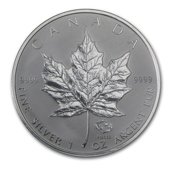 1oz. 2004 CANADIAN PISCES PRIVY MARK SILVER MAPLE LEAF COIN
