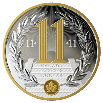 2018 SPECIAL EDITION PROOF SILVER DOLLAR 100TH ANNIVERSARY OF THE ARMISTICE OF THE FIRST WORLD WAR