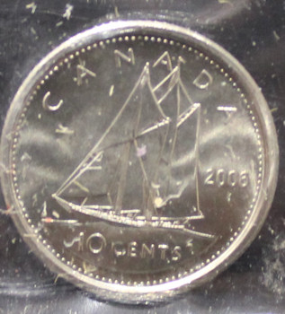 2006P CANADIAN 10-CENT ICCS MS-66