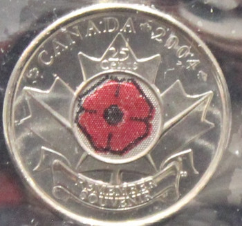 2004P CANADIAN 25-CENT ICCS MS-66 (POPPY)