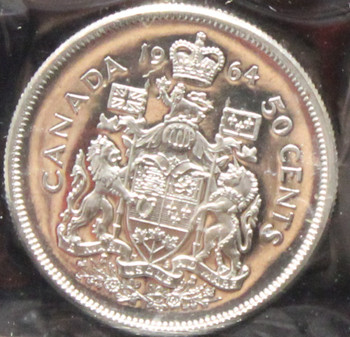 1964 CANADIAN 50-CENT ICCS PL-66 (HEAVY CAMEO)