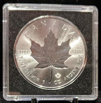 DOUBLE INCUSE 1oz. 2018 CANADIAN SILVER MAPLE LEAF COIN