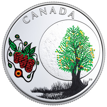 2018 $3 FINE SILVER COIN – THE THIRTEEN TEACHINGS FROM GRANDMOTHER MOON: STRAWBERRY MOON