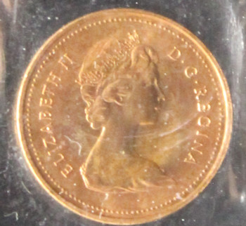 1979 CANADIAN ONE CENT ICCS MS - 66 (RED)