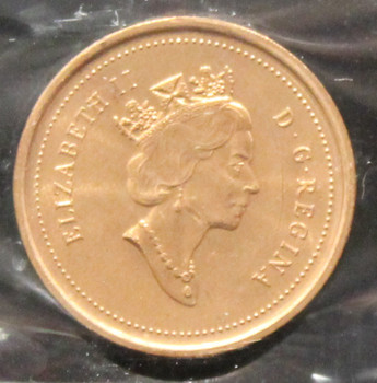 1999 CANADIAN ONE CENT ICCS MS - 67 (RED)
