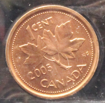 2005 CANADIAN 1 CENT ICCS MS-66 (RED)