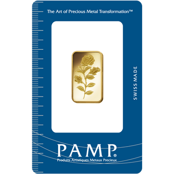 10 GRAM GOLD BAR ROSA - PAMP MINT