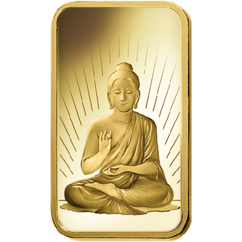 10 GRAM GOLD BAR BUDDHA - PAMP MINT