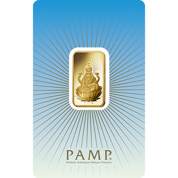 5 GRAM GOLD BAR LAKSHMI- PAMP MINT