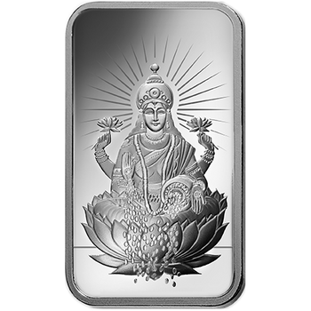 1 OZ SILVER BAR LAKSHMI - PAMP MINT