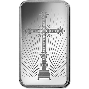 10 GRAM SILVER BAR CROSS - PAMP MINT