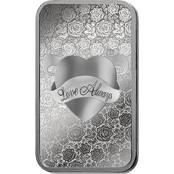 .999 1 OZ SILVER BAR LOVE ALWAYS - PAMP MINT