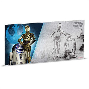 STAR WARS: A NEW HOPE - 5 GRAM FINE SILVER NOTE - R2D2 & C-3PO