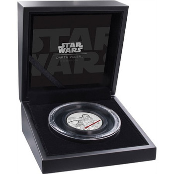 STAR WARS: DARTH VADER - FINE SILVER UHR COIN