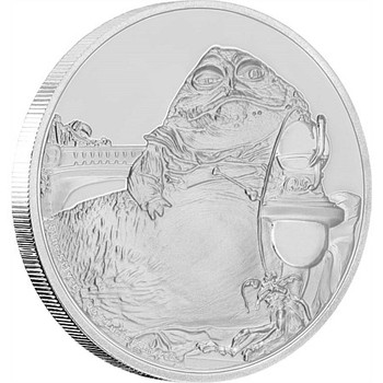 STAR WARS CLASSICS: JABBA THE HUTT - 1 OZ FINE SILVER UHR COIN