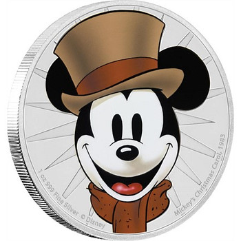 MICKEY MOUSE - 1 OZ FINE SILVER COIN - A CHRISTMAS CAROL