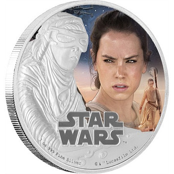 STAR WARS: THE FORCE AWAKENS - 1 OZ FINE SILVER COIN - REY