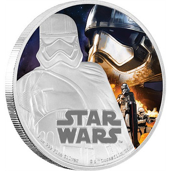 STAR WARS: THE FORCE AWAKENS - 1 OZ FINE SILVER COIN - CAPTAIN PHASMA