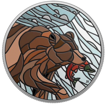 2018 $20 FINE SILVER COIN CANADIAN MOSAICS – GRIZZLY BEAR