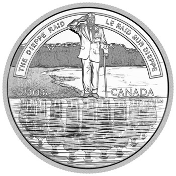 2018 $20 FINE SILVER COIN A NATION'S METTLE: THE DIEPPE RAID