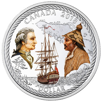 2018 RCNA SPECIAL EDITION FINE SILVER DOLLAR PROOF SET 240TH ANNIVERSARY OF CAPTAIN COOK AT NOOTKA SOUND - LIMITED TO 400