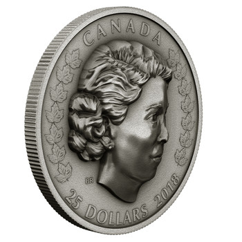 2018 $25 FINE SILVER COIN HER MAJESTY QUEEN ELIZABETH II: THE NEW QUEEN