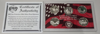 2003 STATE SILVER PROOF QUARTER SET - SAN FRANCISCO MINT