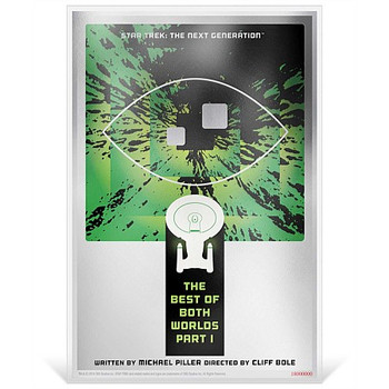 """Star Trek: The Next Generation - """"Best Of Both Worlds, Pt. I"""" - 5g Silver Coin Note"""